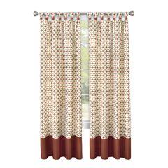 Callie Cuff Tab Top Window Curtain Panel - 52x63,