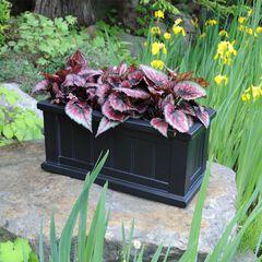 """Cape Cod Patio Planter 24"""" x 11"""", BLACK"""