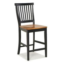 "24"" Bar Stool with Oak Finished Seat,"