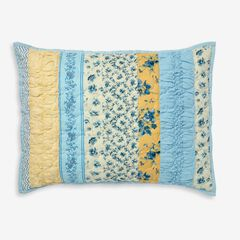 Claudine Floral Printed Sham, BLUE YELLOW FLORAL