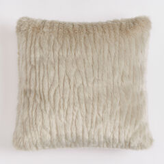 "Textured Faux Fur 18"" Sq. Pillow ,"