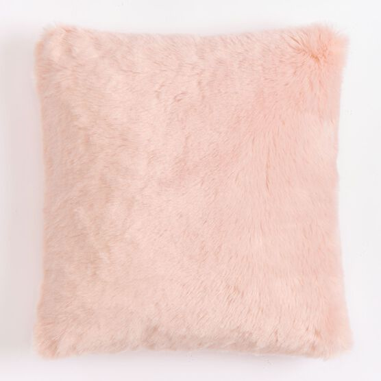 "Plush 18""Sq. Pillow, SOFT PINK"