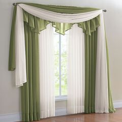 Bh Studio Sheer Voile Rod Pocket And Valance