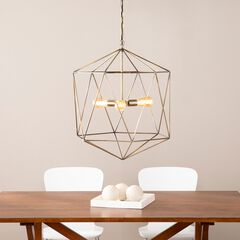 Clardonia Geometric 3-Light Pendant Lamp,