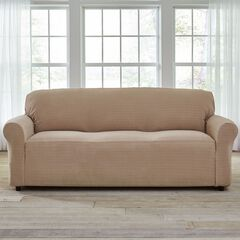 BH Studio® Stretch Diamond Extra-Long Sofa Slipcover,
