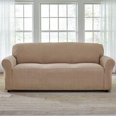 Bh Studio Stretch Diamond Extra Long Sofa Slipcover