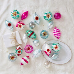 24-Pc. Traditional German Ornament Set,