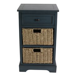 Antique Navy One Drawer 2 Baskets by J. Hunt,