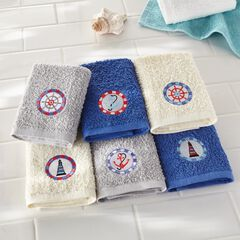 Embroidered 6-Pc. Washcloth Set,