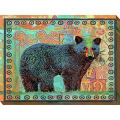 Black Bear Outdoor Wall Art,