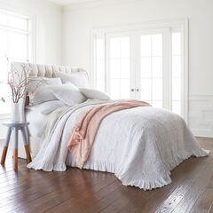 Sophia Embroidered Ruffle Bedspread,
