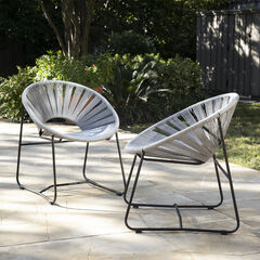 Rondly Outdoor Rope Chairs – 2pc Set,