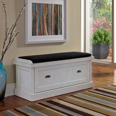 Nantucket Distressed Upholstered Bench,
