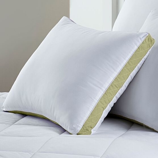 Gusseted Density 2-Pack Pillows, Medium Firm,