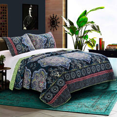 Twyla Quilt Set by Barefoot Bungalow, MIDNIGHT BLUE