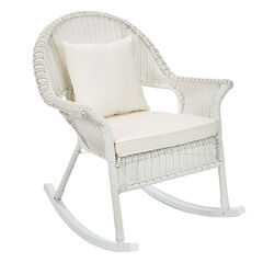 Roma All-Weather Rocking Chair, WHITE