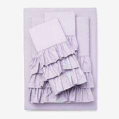 Ruffle Microfiber Sheet Set,
