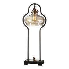 Cotulla Aged Black Desk Lamp,