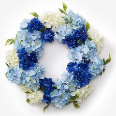 Blue Hydrangea Wreath,