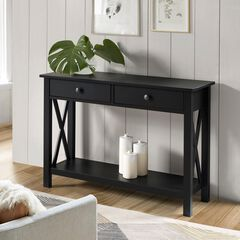 Davis Console Table, BLACK