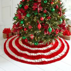 Candy Stripe Pleated Tree Skirt,