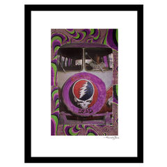 Grateful Dead Psychedelic - Purple / Green - 14x18 Framed Print,