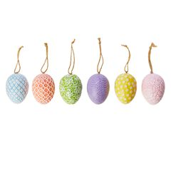Decorative Easter Eggs, Set of 6,