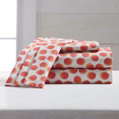 220-TC Percale Citrus Fruit Sheet Set,