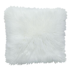 Plush Accent Pillow, WHITE