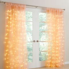Pre-lit Tab-Top Curtain Panel,