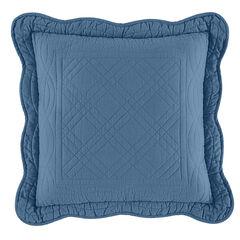 "Florence 16"" Square Pillow, SMOKY BLUE"