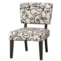 Taylor Accent Chair - White Black Circles,