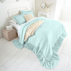 Madeline Ruffle Bedspread, ETHER BLUE