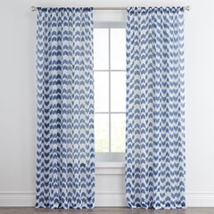 Turia Chevron Semi-Sheer Rod-Pocket Panel ,