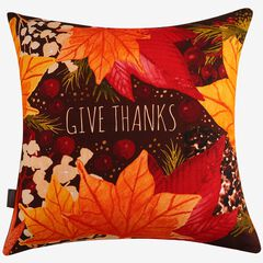 Give Thanks Decorative Pillow,