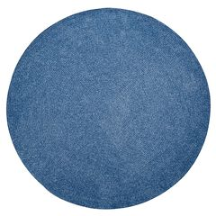 """Chenille Solid Braid Collection Reversible Indoor Area Rug, 96"""" Round,"""
