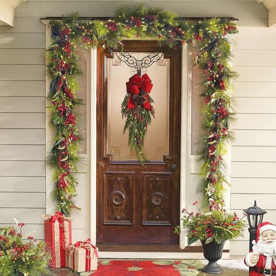 Winter Berry 6' Garland, MULTI