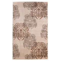 Milan Ivory/Brown 5'X8' Area Rug,