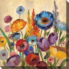 Jovial Blooms Outdoor Wall Art,