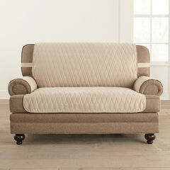 Secure Fit Microsuede Loveseat Protector ,