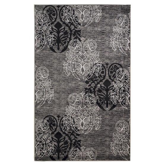 Milan Black/Grey 5'X8' Area Rug, BLACK GREY