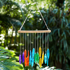 Rainbow Glass Wind Chime,