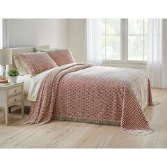 Wave Chenille Bedspread, TERRACOTTA