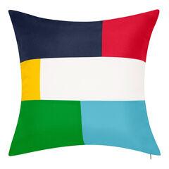 Indoor & Outdoor Bold Colorblock Reversible Nautical Decorative Pillow,