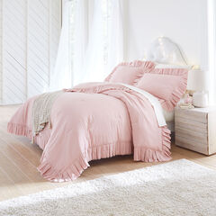 Cotton Linen Coverlet, POWDER ROSE