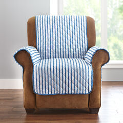 Striped Chair Protector, BLUE