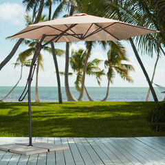 Two-Tone Easy Up Cantilever Umbrella,