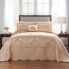 Amelia Satin Bedspread, CHAMPAGNE