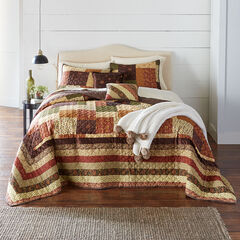 Salem Harvest Bedspread, BROWN MULTI
