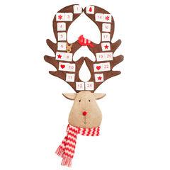 Reindeer Advent Calendar, RED BROWN